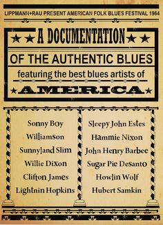 American Blues Poster by Rokpool - print Jazz Blues, Blues Music, Concert Posters, Music Posters, Art Posters, Blues Artists, Music Artists, Willie Dixon, Sonny Boy
