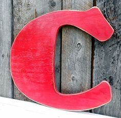 "19"" X-Large Wooden Letter ""C"" Rustic-Fat Comic Style Plywood - A B C D E F G H I J K L M N O P Q R S T U V W X Y Z. 19"" X-Large Wooden Letter ""C"" Rustic-Fat Comic Style. Character is approximately 19"" tall. Cut out of 1/2"" ply, painted and distressed. We can cut any letter in any font just ask...we are quick... This is meant for inside or covered porch use but we can add a sealer for free which will increase the outdoor longevity if that is what you want. This one is ready to ship in red…"