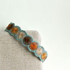 Penny Wool Felt Headband // Hand Embroidered // Pacific // LoftFullOfGoodies. $26.00, via Etsy.