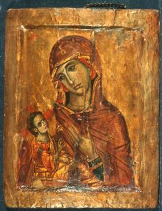 Theotokos the God Bearer and the Christ Child Byzantine Icons, Byzantine Art, Religious Icons, Religious Art, Saint Catherine's Monastery, Madonna, Paint Icon, Christian Religions, Best Icons