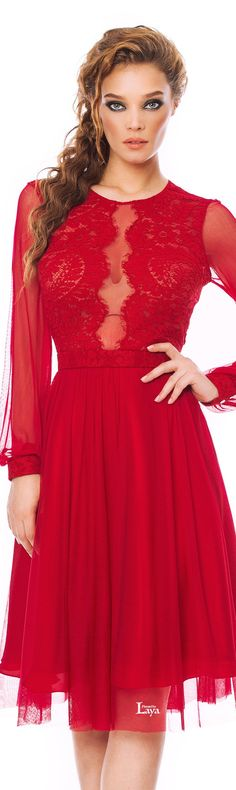 CRISTALLINI | little RED cocktail dress | Red is energizing. It excites the emotions and motivates people to take action | I've never seen you looking so lovely as you did, I've never seen you shine so bright | Lady in red | #thejewelryhut