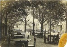 Der vordere Schankgarten im Jahre 1923