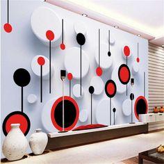 beibehang wallpaper custom mural non-woven wall sticker 3 d TV setting wall fashion circle photo wall murals wallpaper