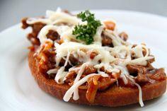 masova-topinka Inka, Bread Baking, No Cook Meals, Baked Potato, Hamburger, Sandwiches, Toast, Food And Drink, Appetizers