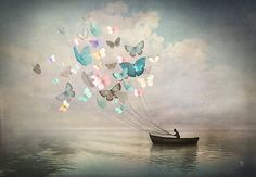 'The Quest' , made by: Christian Schloe - (Butterflies with strings)
