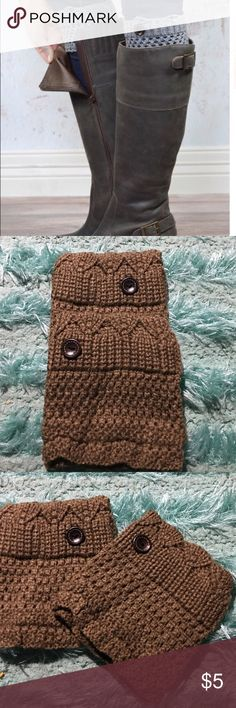 TAUPE color knit leg warmer boot cuffs 🎉KNITTED BOOT CUFF LEG WARMERS. PERFECT ACCESSORY TO TIE ANY OUTFIT TOGETHER. COME IN DARK BROWN BLACK TAUPE AND CREAM. CUTE BUTTON DETAIL. BE CREATIVE WEAR THEM WITH BOOTIES NOT JUST CALF BOOTS. LOVE THAT THESE ARE SUCH A SIMPLE WARM AND CUTE WAY TO CREATE AN ENTIRE LOOK WITH ONE ACCESSORY. ONLY THE 4 COLORS NOW. MESSAGE ME OR PUT IN LIKES COLOR YOU WANT OR CREATE A BUNDLE. GORGEOUS LACE ON THEIR WAY. NEW PAIR OF BOOTS ADD A BOOT CUFF YOU ARE…