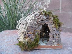Miniture Rock House For the Garden Fairy Gnome or by ByThese2Hands