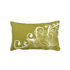 Gold and White Lumbar Pillow $49.95