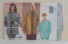 Misses Jacket Loose Fitting Size XSSM UNCUT Vintage by filecutter, $4.75