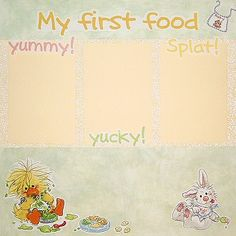 Baby Scrapbooking Ideas - First Food