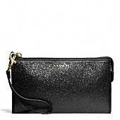 legacy zippy wallet in glitter fabric