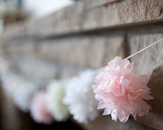 Tissue paper pom pom garland...love!