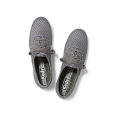 Designer Clothes, Shoes & Bags for Women Keds Sneakers, Keds Shoes, Grey Sneakers, Grey Shoes, Lace Up Shoes, Polka Dot Shoes, Polka Dots, Keds Champion, Sneaker Stores