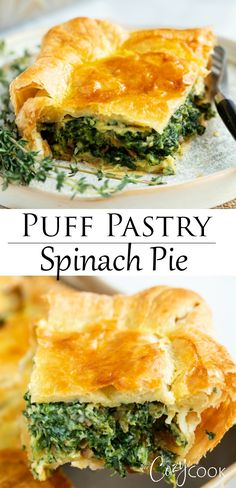 Spinach Pie - The Cozy Cook - Spinach Pie This spinach pie recipe is made with eggs, caramelized onions, gruyere cheese, and golden puff pastry. An easy side dish idea for Thanksgiving or a family dinner! Puff Pastry Recipes Savory, Spinach Puff Pastry, Puff Pastry Dough, Spinach Pie, Spinach Puffs Recipe, Easy Spinach Recipes, Spinach Cheese Puffs, Easy Puff Pastry Recipe, Pastries Recipes