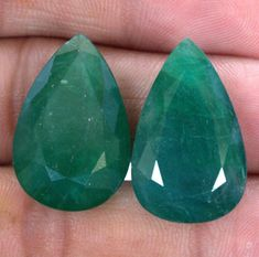 Your place to buy and sell all things handmade Natural Emerald, Loose Gemstones, Pear, Unique Jewelry, Handmade Gifts, Vintage, Etsy, Kid Craft Gifts, Craft Gifts