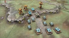 Epic Armageddon - Death Korps Of Krieg & Legio Fureans Titans A picture of my last painting work on my citadel modular gaming table, my true scale titans and Super Heavy Tanks
