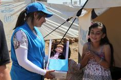 A wish comes true for Syrian girl who left behind the most important thing - May's delight is clear as a #UNHCR staff member hands over her new doll , a present from a young British girl. It was brought by UNHCR staff all the way from #Thailand. http://www.youtube.com/watch?v=s9mF9THjqeA