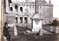 Foto storiche di Roma - Piazza Di Santa Maria Maggiore Anno: 1865 ca