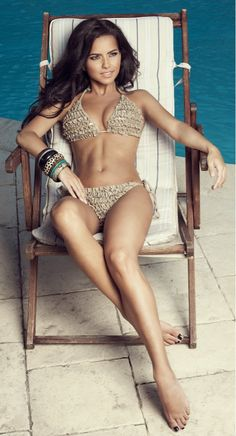 Perfect body, girl is gorgeous, and I absolutely love the swim suit!!  Have to own the suit.  I just love the color!!