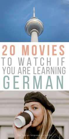 20 Movies To Watch If You Are Learning German. Go to our website if your interest in joining a language course German or another language. German Language Learning, Language Study, Learn A New Language, Foreign Language, Dual Language, Spanish Language, French Language, Language Logo, German Language Course