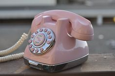 Image Detail for - PINK vintage phone by Norcaltreasures on Etsy I have this!