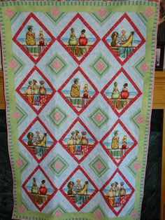 Girlfriends quot quilt i designed using the fruit lady fabric by