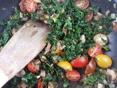 #kale with #mushrooms. #grünkohl mit #pilzen