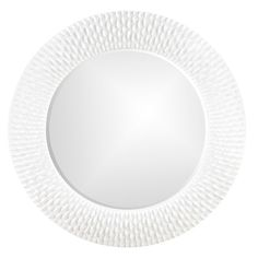 Bergman Glossy White Round Mirror Howard Elliott Collection Round Mirrors Home Decor