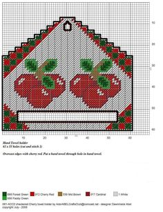 Plastic Canvas Christmas, Plastic Canvas Crafts, Plastic Canvas Patterns, Embroidery Stitches, Embroidery Patterns, Cross Stitch Patterns, Hand Towels, Dish Towels, Tea Towels