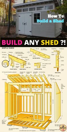 shed plans! Start building amazing sheds the easier way, with a collection of shed plans! Shed Building Plans, Diy Shed Plans, Backyard Sheds, Outdoor Sheds, Log Cabin Sheds, Shed Builders, Shed Floor, Diy Storage Shed, Shed To Tiny House