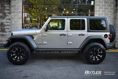 Jeep Wrangler Discover Jeep Wrangler with Black Rhino Pinatubo Wheels exclusively from Butler Tires and Wheels in Atlanta GA - Image Number 10883 Jeep Wrangler JL with Black Rhino Pinatubo Wheels Jeep Sahara, Jeep Wrangler Rubicon, Jeep Wrangler Unlimited, Jeep Wrangler Silver, Jeep Jl, Jeep Cars, Jeep Truck, Jeep Wrangler Wheels, Jeep Wranglers