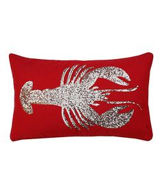 Look what I found on #zulily! Red Sequin Lobster Throw Pillow #zulilyfinds