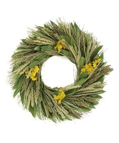 Look at this Wheat Flax Wreath on #zulily today!