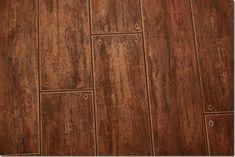 Tile that looks like wood.  Great for moisture areas like bathrooms.