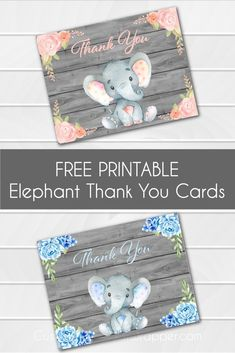 17 Trendy Baby Shower Elephant Theme Printables Thank You Cards Baby Shower Gift Basket, Baby Shower Niño, Baby Shower Thank You Cards, Baby Shower Invitations For Boys, Baby Shower Invites For Girl, Baby Shower Printables, Baby Shower Gifts, Free Printables, Baby Cards