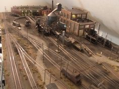 My HO Scale Layout Steam and Diesel Locomotive facility-1