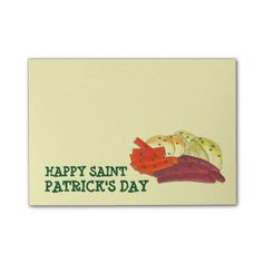 Happy Saint Patrick's Day Corned Beef and Cabbage Post-it Notes #stpatricksday #postitnotes