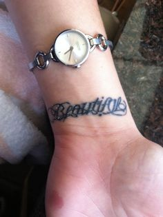 *Beautiful Disaster* Ambigram Tattoo I want this!!!!