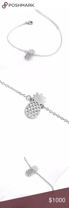 New Arrival!! Silver Pineapple Charm Bracelet Brand NWT in original packaging! cute silver tone pineapple bracelet! link chain length: 18cm + extender (adjustable) with a lobster claw clasp closure silver plating. allergy friendly, nickel & lead free! **will not turn or tarnish if properly cared for!** ~matching necklace, rings & earrings available too!~ Bundle & save!! Gold available as well! Jewelry Bracelets