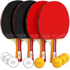 Nibiru Sport Ping Pong Paddle Set Bundle, Pro Premium Rackets, 3 Star Balls, Portable Storage Case, Complete Table Tennis Set With Advanced Table Tennis Equipment, Table Tennis Set, Table Tennis Racket, Sports Equipment, Tennis Ball Crafts, Arcade Table, Canoe Storage, Orange Table, Ping Pong Paddles
