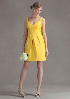 Perfect yellow dress for all the bridesmaids