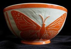 Monarch Bowl by CBacon Pottery