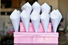 a {day} with lil mama stuart: DIY Popcorn Cones Tutorial