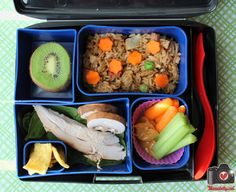 A lunch for work in our @Laptop Lunches bento box by mamabelly.com