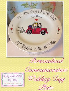 Personalised Commemorative Wedding Plate - The Supermums Craft Fair