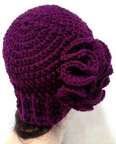 Women's Crochet Flower Hat. by Africancrab on Etsy