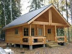Planning To Build A Shed? Now You Can Build ANY Shed In A Weekend Even If You've Zero Woodworking Experience! Start building amazing sheds the easier way with a collection of shed plans! How To Build A Log Cabin, Small Log Cabin, Building A Cabin, Tiny Cabins, Tiny House Cabin, Log Cabin Homes, Cabins And Cottages, Small House Plans, Log Cabin Plans