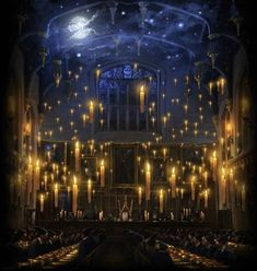 Magical ceiling and floating candle.