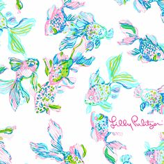 Lilly Pulitzer print : Resort White Coastal Kiss.