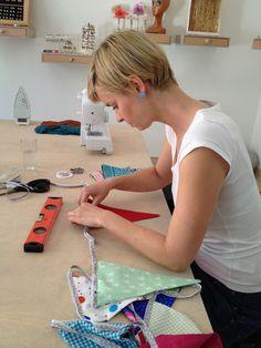 Wimpelkette, nähen, diy, sew, tutorial, Anleitung free, kostenlos